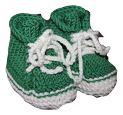 Hand Knitted Baby Shoes 0 - 6 Months Birth Gift