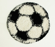 Shaggy Football Rug - 80 x 80 cm