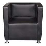 Anself Artificial Leather Armchair Black