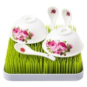 Wuzmei Green Grass Countertop Baby Infant Bottle Nipple Dish Drying Rack Holder