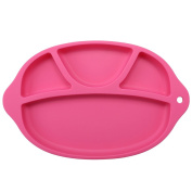 Bystar Children Silicone Placemat Mess-Free Toddler Suction Bowl FDA Approved Divided Placemat For Kids