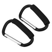 Sinbury® 2pcs Strong Large Buggy Clips For Pram Pushchair, Shopping Bag Secure Hooks - 14cm
