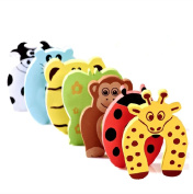 Franchen Doorstopper Window Stopper Animal Style Foam Door Cards Finger Protection for Baby Child Safety