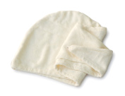 Basicare Bamboo Fibre and Cotton Hair Turban, 71 x 26 cm