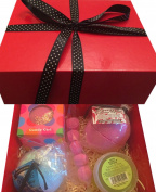 Relaxy Bath Bombs Box - Gift Set - Bath bombs and shower jelly - Red Box