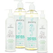 100% Natural & Organic Personal Care Gift Set - Body Wash & Body Lotion Bundle - Spa Grade Product Kit with Clinically Superior Results - Save over 37% off MSRP!