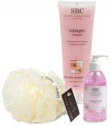 SBC Collagen 125ML Gel, Bath & Shower Creme 250ML & Hydrea Scrunchie Gift Set