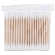 Linkings 80Pcs Wood Handle Sturdy Cotton Applicator Swab Accessories