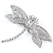 Rosie Fox crystal dragonfly hairclip and brooch