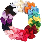 Prochive 20 Clolors Girls Kids Hair Bows Boutique Alligator Clips Snap Clip
