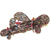 OverDose Vintage Jewellery Crystal Butterfly bowknot Hairpins Hair stick - for hair