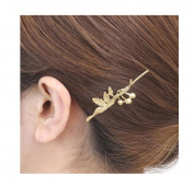 OverDose Women Gold Barrette Hairpin Hair Clip Headband