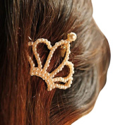 OverDose 1PC Shiny Golden crown Hair Clip Headband Hair Accessories Headpiece