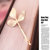 OverDose 1PC European Style Hair Accessories Fashion Lovely Leaves Metal Hairpin