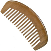 Wide Tooth Wooden Comb Medium Tooth Green Sandalwood Pocket Comb