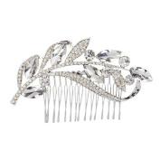 WINOMO Elegant Wedding Bridal Rhinestones Hair Comb Clip Hair Pin Hair Accesories