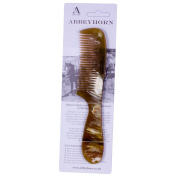 Abbeyhorn Hand Crafted Natural Horn Broad Tooth Comb 190mm