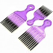 3 x Afro Hair Combs by Lizzy®