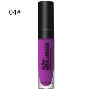 Purple 04# Waterproof Matte Lipstick Baonoopy liquid Long Lasting lip gloss Qibest