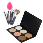 iLoveCosUK Makeup Palette Brushes Set 6 Colour With Sponge