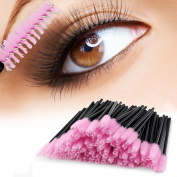 PsmGoods® 100PCS Disposable Eyelash Mascara Wand Brush Cosmetic Eye Wands Brush