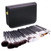 [New Item Deal]Docolor 29Pcs Most Professional Sable Goat Pony Hair Makeup Brushes Set With Leather Case