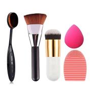GAXUVI 5pcs Makeup Brush Makeup Sponge Makeup Brush Cleaner Foundation Brush