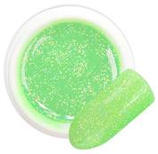 Alzir Green colour 052 GLITTER GEL Bsn Professional 5 ml