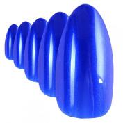 Bling Art Stiletto False Nails Fake Acrylic Blue Lagoon Full Cover Medium Tip UK