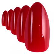 Bling Art Stiletto False Nails Fake Acrylic Red Fire Full Cover Medium Tips UK