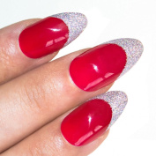 Bling Art Stiletto False Nails Fake Acrylic Red 4 Danger Full Medium Tips UK