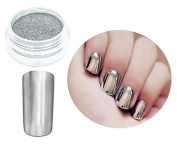 Chrome Silver Impressive Manicure Nails Powder Nail Art UV Gel Acrylic Resin
