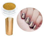 Impressive Manicure Nails Gold Chrome Powder Nail Art UV Gel Acrylic Resin