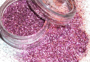 """'""""Glamour"""" Glitter approx. Minute 2G # 512 Pink/Stars"""