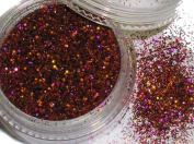 "'""Glamour Glitter approx. Minute 2G # 563 Evening Red Holografic"