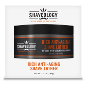 Shaveology Men's Rich Anti-Ageing Shave Lather Infused With Golden Seaweed - Provides A Thick Lather For An Exceptional Shave And Protects And Hydrates The Skin