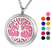 VALYRIA Jewellery Aromatherapy Essential Oil Diffuser Necklace, Tree of Life, Gifts for Her
