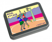 NETBALL - GOAL SHOOTING - the Quikky Netball game in a hinged tin which fits neatly in your pokket