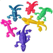 Teeliya » 12 x Stretchy Lizards ✮ Neon Colour ✮ Stretch, Knead & Play ✮ Rubber Toys ✮ Party Bag Fillers