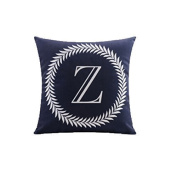 Levionlinesale No.1255 Letter Z Pillow Cover Decorative Pillows For Sofa