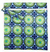 FAB4BABYSTARS, Blue & Green Fan Fair Wet Bag, stretchy with Zip and Handle