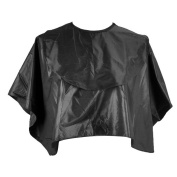 Waterproof Hair Salon Barber Hair Cutting Hairdressing Shoulder Cape with Hooks and Loops Fastener Black