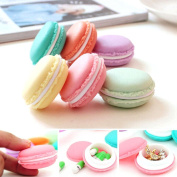 Ouneed ® Travel Cosmetic Small Bag 6 PCS Mini Earphone SD Card Macarons Bag Storage Box Case Carrying Pouch