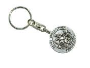 E4-0125 - St Christopher Pendant Keyring Keychain Bag Charm Zipper Charm Protection