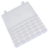 15/24/36 Grid Clear Adjustable Jewellery Bead Organiser Box Storage Container Case