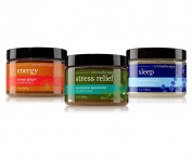3pc SET - Bath & Body Works Aromatherapy Sugar Scrub Collection - Eucalyptus Spearmint, Lavender Vanilla & Orange Ginger