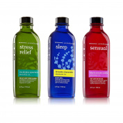 3pc SET - Bath & Body Works Aromatherapy Massage Oil Collection - Eucalyptus Spearmint, Lavender Chamomile & Black Currant Vanilla