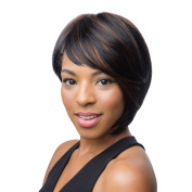 CELEBRITY Women's Premium Quality Wig Side Bang Short Bob Style