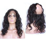 """Foxys' Hair 360 Full Lace Frontal With Baby Hair 22.5x 4"""" x 5.1cm Brazilian Body Wave Virgin Hair Full Lace Band Frontal 25cm - 50cm"""