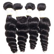 BeautyGrace 9A Peruvian Loose Wave Virgin Hair Human Hair Extensions 4PCS